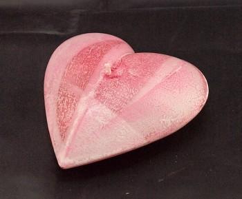 Romantická svíčka ve tvaru srdce