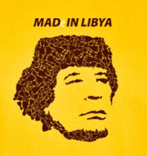 Triko Bukaj s vtipným potiskem - MADe IN LIBYA