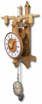 Nástěnné, dřevěné lihýřové hodiny