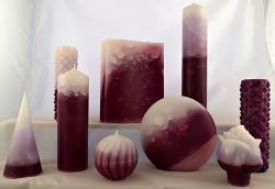 Vonné svíce - kolekce Purpura