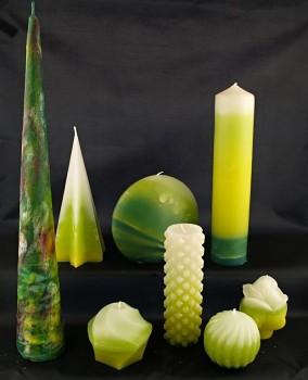 Vonné svíce - kolekce Žlutozelb